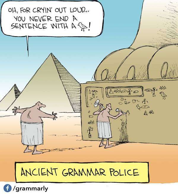 X Ancient Grammar Nazi