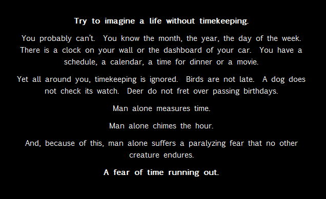 Fear of Time Running Out